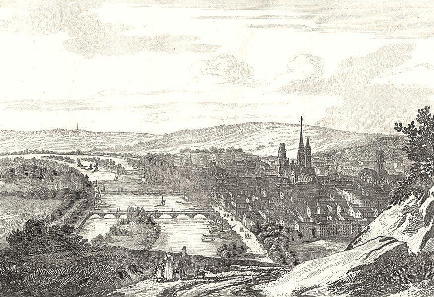 Associate Product SEINE-MARITIME. Seine-Inférieure. Rouen. Rouen (1)  1835 old antique print