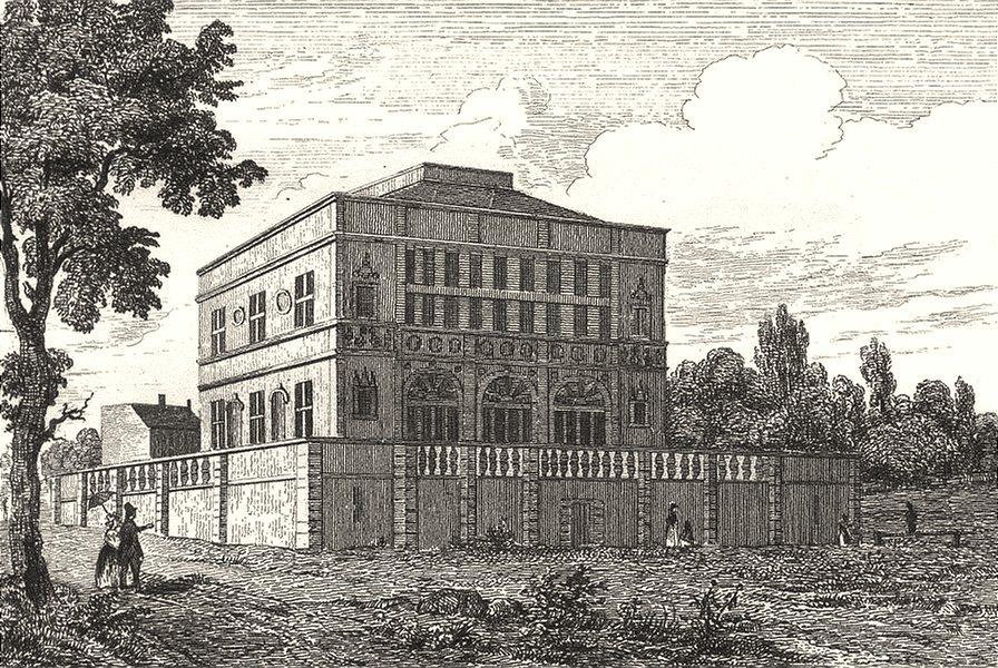 Associate Product SEINE-ET-MARNE. Maison dite de François Ier 1835 old antique print picture