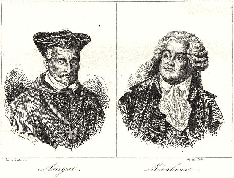 Associate Product SEINE-ET-MARNE. Amyot; Mirabeau 1835 old antique vintage print picture