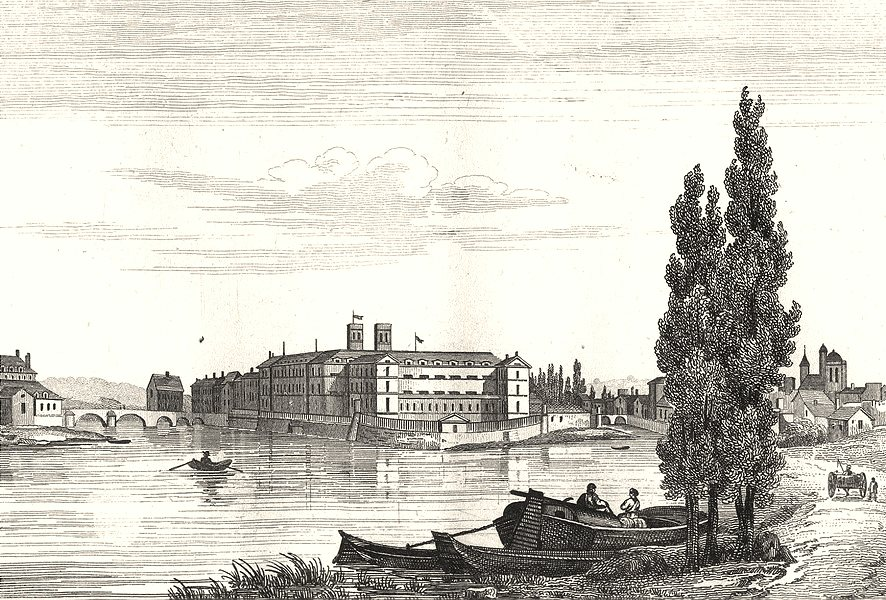 Associate Product SEINE-ET-MARNE. Melun 1835 old antique vintage print picture
