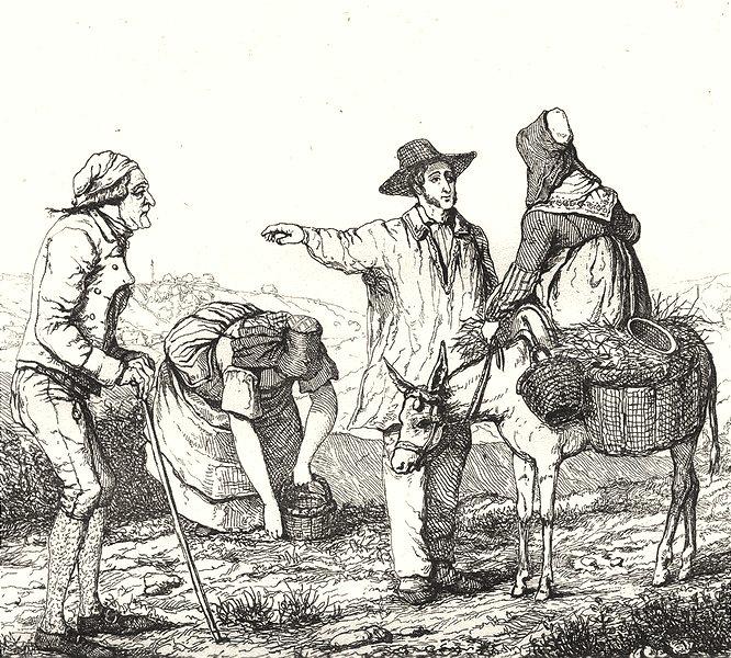 Associate Product SEINE-ET-OISE. Costumes de Seine-et-Oise 1835 old antique print picture