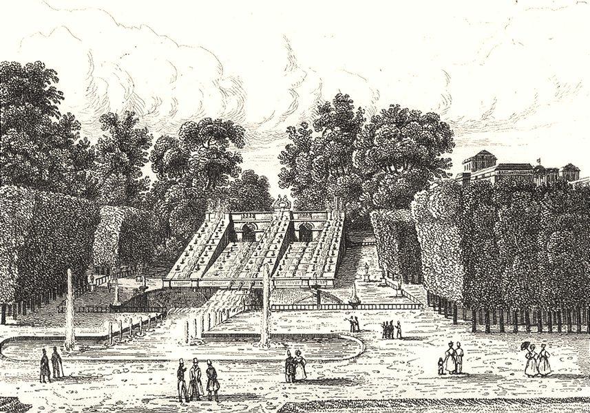 HAUTS-DE-SEINE. Parc de St. Cloud 1835 old antique vintage print picture