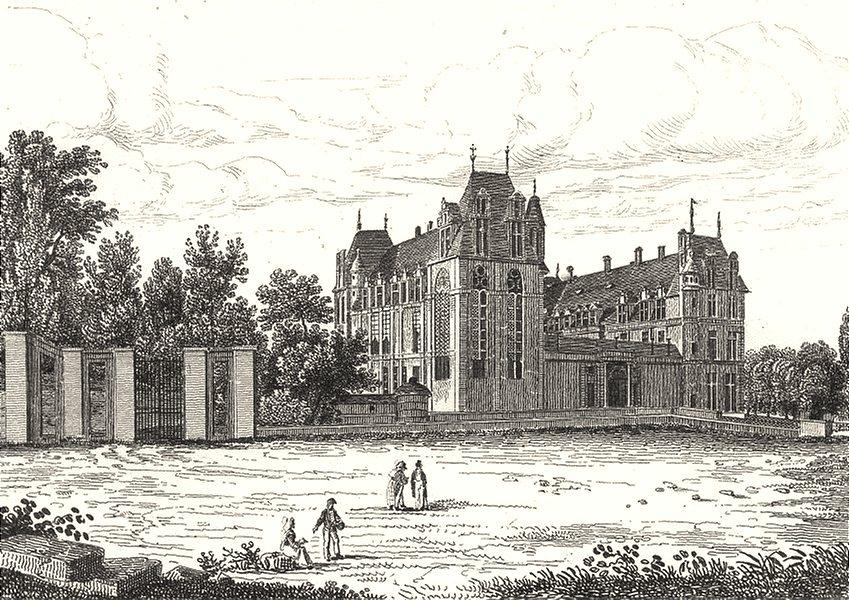 Associate Product SEINE-ET-OISE. Chateau d' Ecouen 1835 old antique vintage print picture