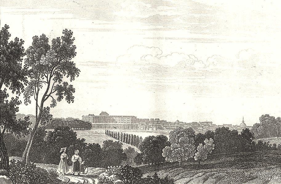 Associate Product SEINE-ET-OISE. Vèrsailles 1835 old antique vintage print picture