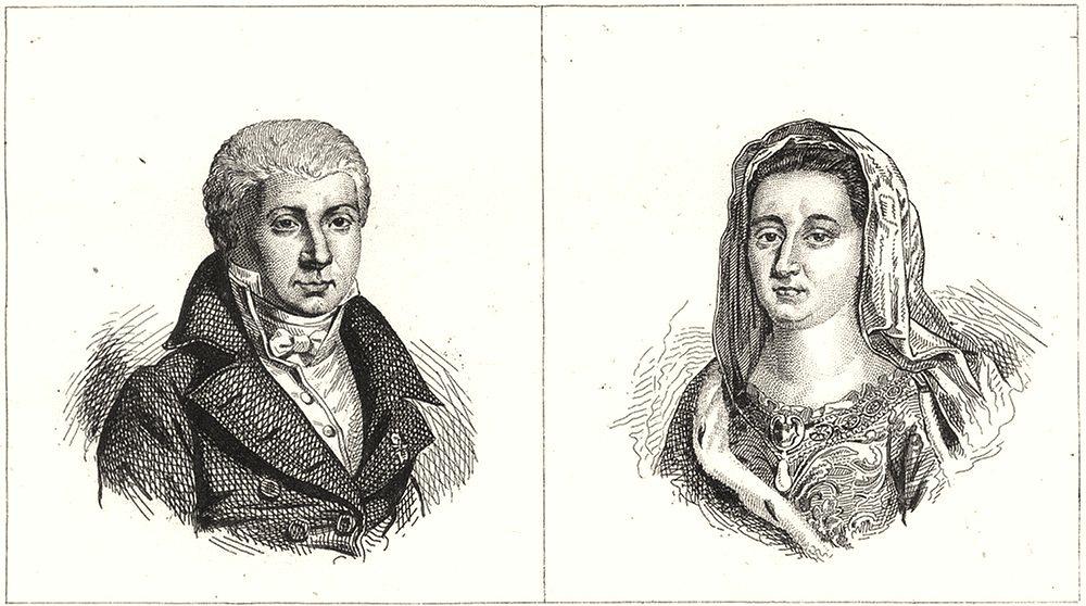 Associate Product DEUX-SÈVRES. Fontanes; Mme. Maintenon 1835 old antique vintage print picture