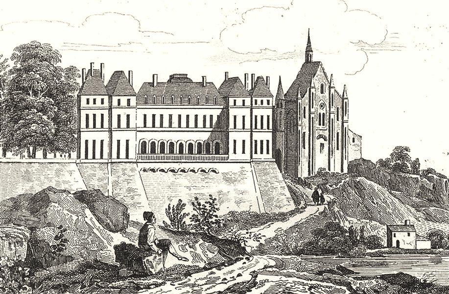 Associate Product DEUX-SÈVRES. Chateau de Thouars 1835 old antique vintage print picture