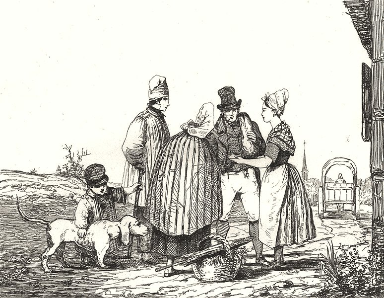 Associate Product SOMME. Costumes de la Somme 1835 old antique vintage print picture