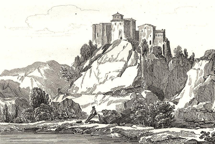 Associate Product TARN-ET-GARONNE. Chateau de Bruniquel 1835 old antique vintage print picture