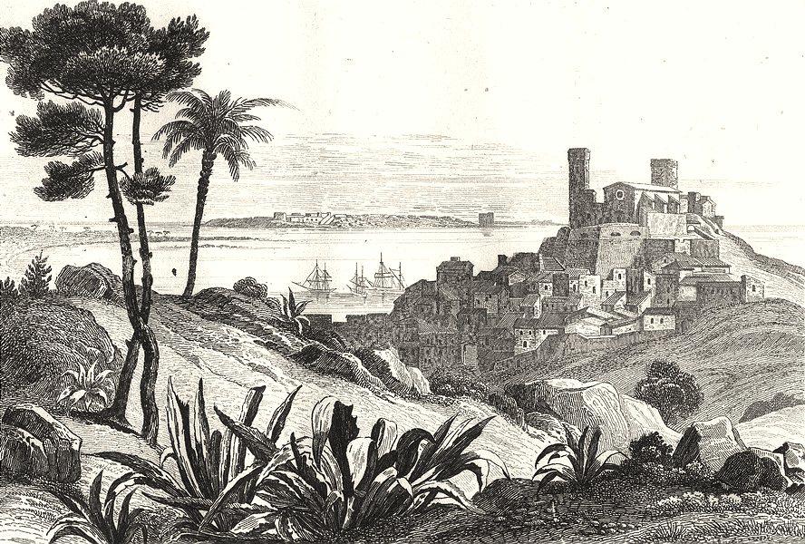 Associate Product ALPES-MARITIMES. Cannes 1835 old antique vintage print picture