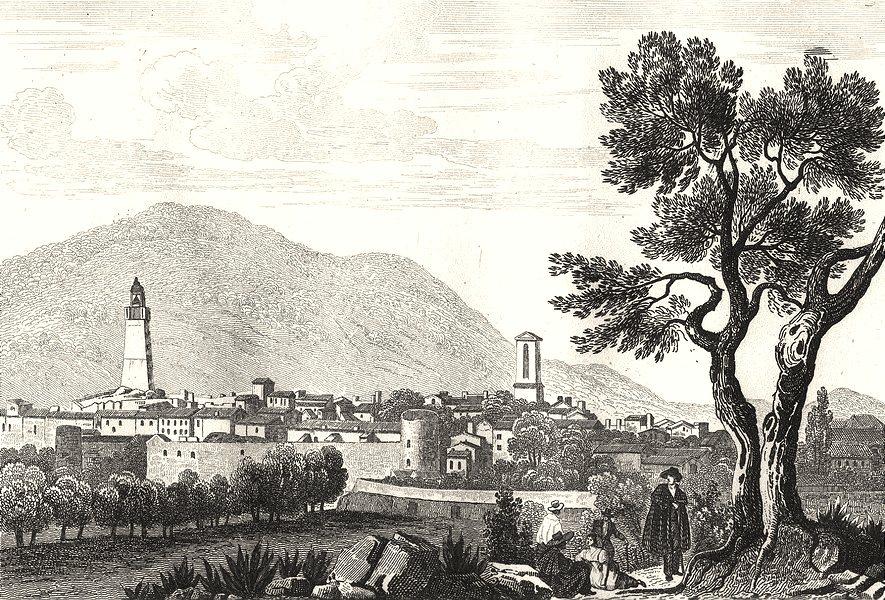 VAR. Draguignan 1835 old antique vintage print picture