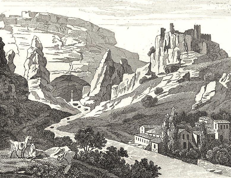 Associate Product VAUCLUSE. Fontaine de Vaucluse 1835 old antique vintage print picture