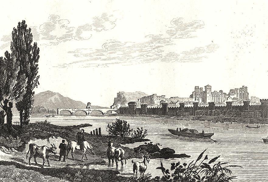 Associate Product VAUCLUSE. Avignon 1835 old antique vintage print picture