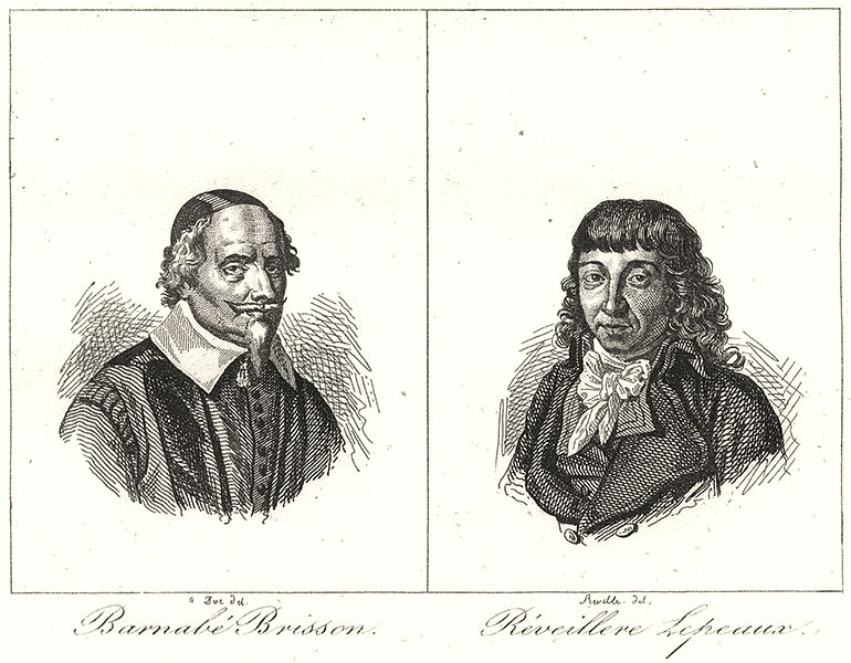 Associate Product VENDÉE. Barnabé Brisson; Réveillere Lepeaux 1835 old antique print picture