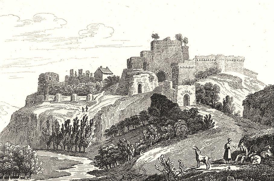 VENDÉE. Chateau de la Barbe-bleue à Teffanges 1835 old antique print picture