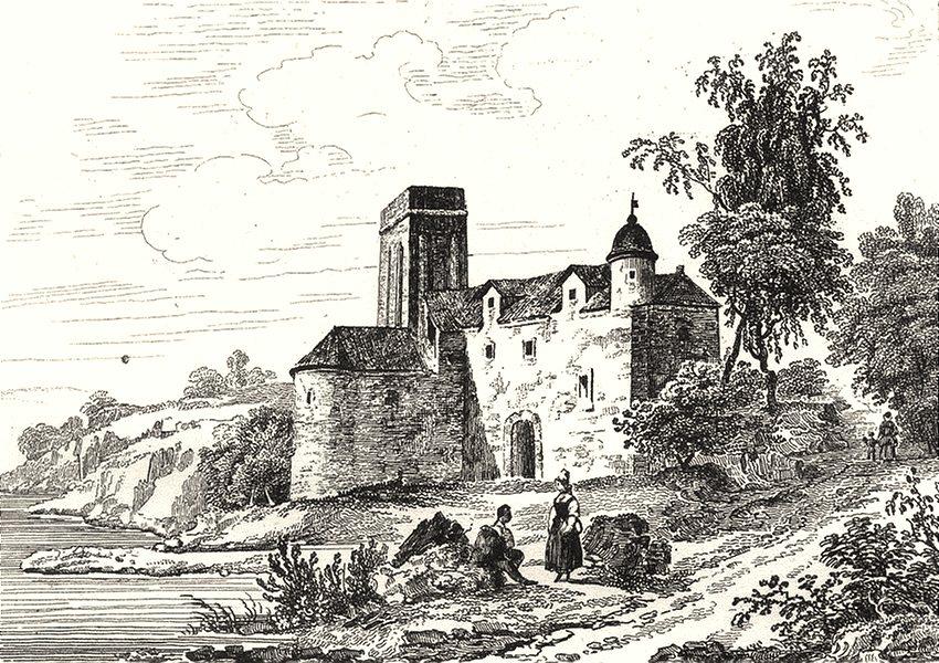 Associate Product HAUTE-VIENNE. Chateau de Pierre Buffiere 1835 old antique print picture