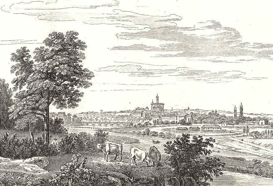 Associate Product HAUTE-VIENNE. Limoges 1835 old antique vintage print picture