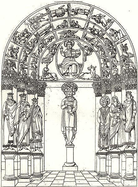 Associate Product YONNE. Portail de l'Eglise de Vermanton 1835 old antique vintage print picture