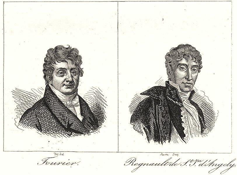 Associate Product YONNE. Fourier; Regnault de St. Jean d'Angely 1835 old antique print picture
