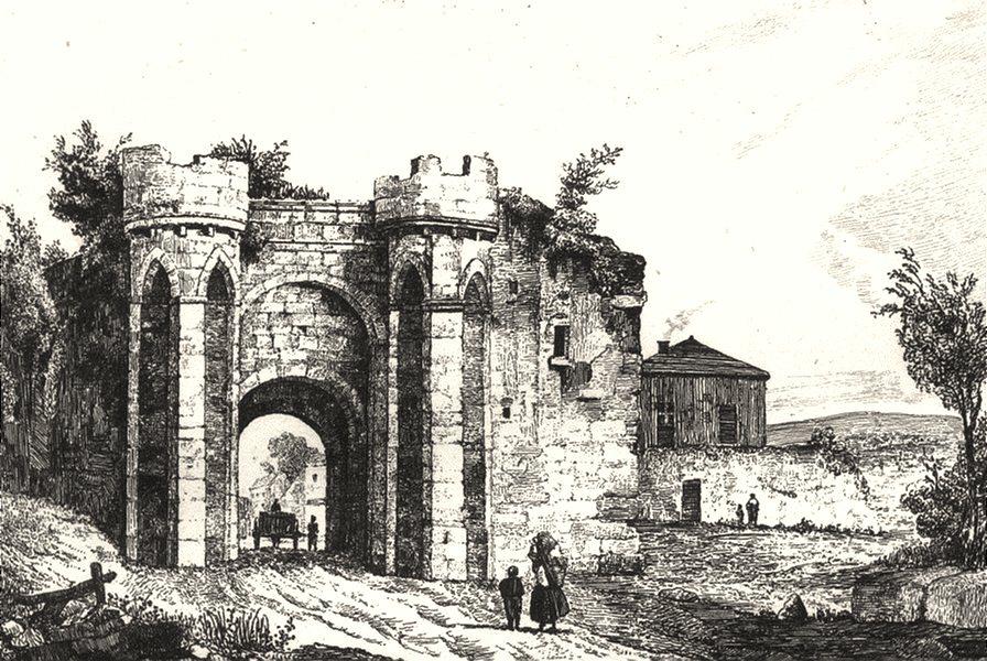 Associate Product YONNE. Porte de Sens 1835 old antique vintage print picture