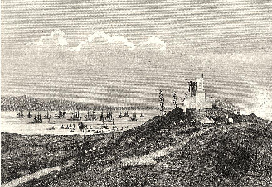 ALGERIA. État d'Alger. Sidi Feruch 1835 old antique vintage print picture