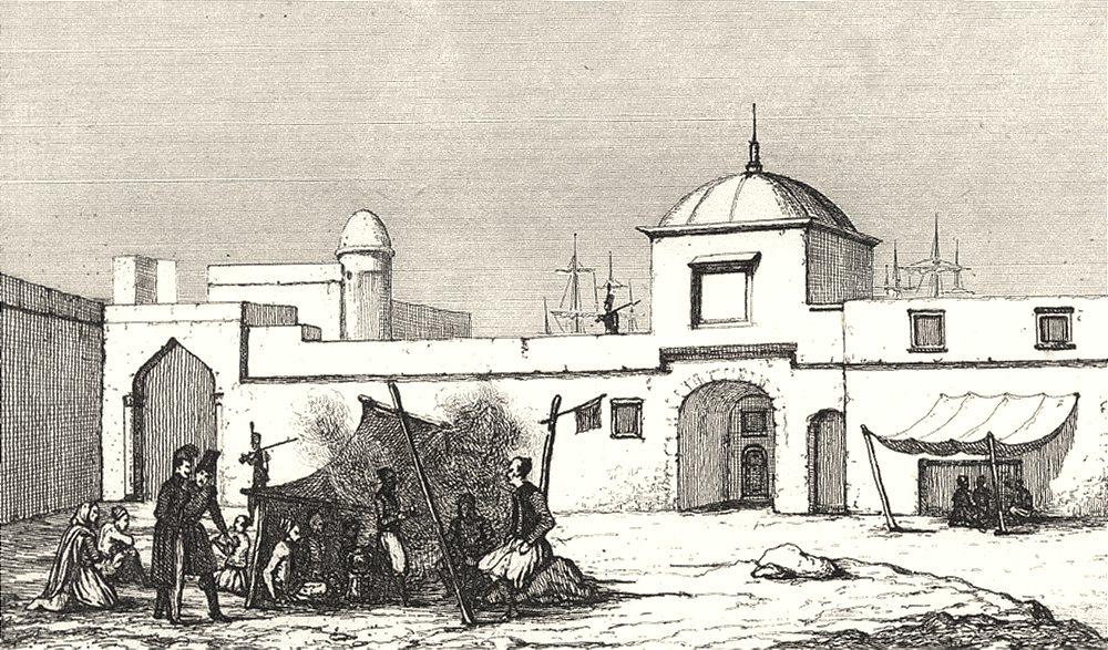 Associate Product ALGERIA. État d'Alger. Arsenal de la marine à Algiers (Alger)  1835 old print