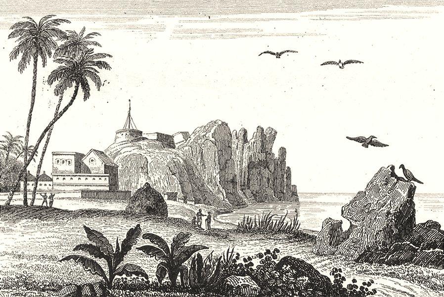 SENEGAL. Sénégal et Gorée. Fort de Gorée 1835 old antique print picture