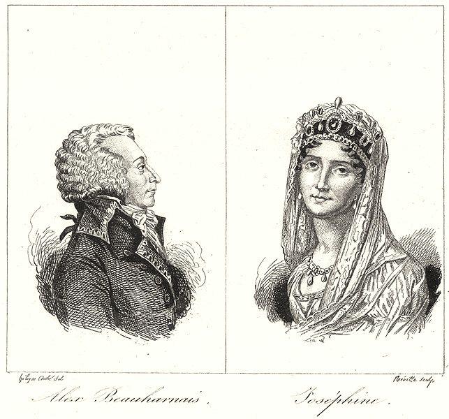 Associate Product WEST INDIES. Antilles Françaises. Alex Beauharnais; Joséphine 1835 old print