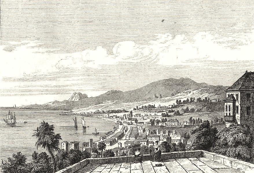Associate Product WEST INDIES. Antilles Françaises. Saint Pierre 1835 old antique print picture