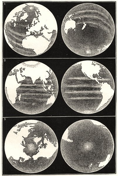 Associate Product WORLD. Earth Globe, continents seas Hemisphere terrestrial maritime Equator 1877