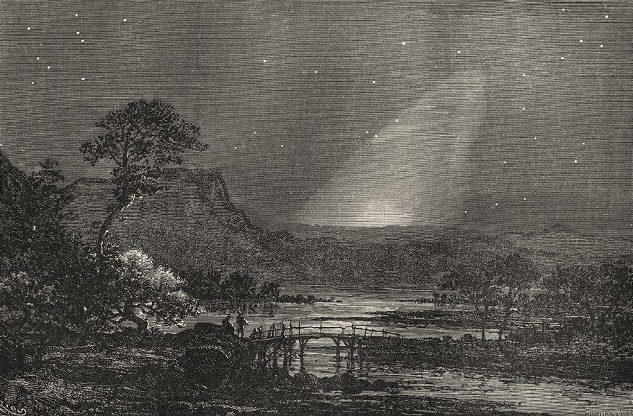 Associate Product ASTRONOMY. Zodiacal Light in Europe. September morning before sunrise 1877