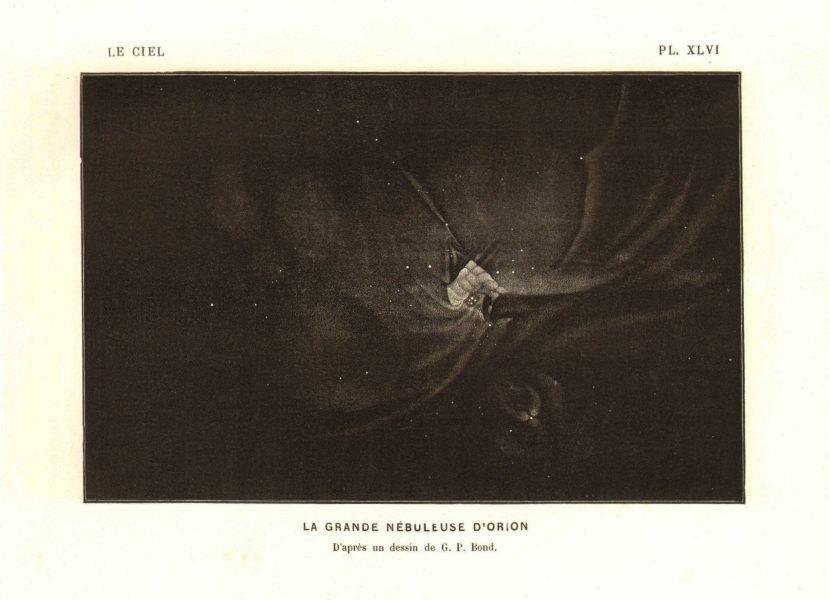 Associate Product ASTRONOMY. Orion nebula. Messier 42 M42 NGC 1976. GP Bond 1877 old print