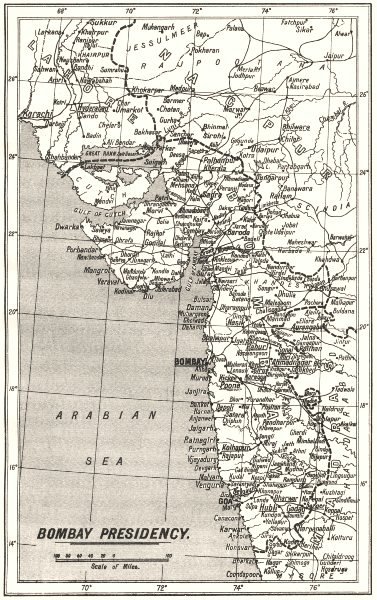 Associate Product INDIA. Mumbai; S. . Mission Stations- Other C. E.  1922 old vintage map chart