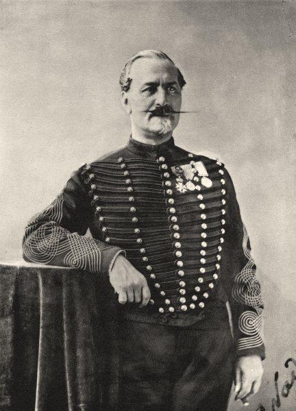 Associate Product MILITARIA. Portrait of Colonel Vassoigne, c.1860 1935 old vintage print
