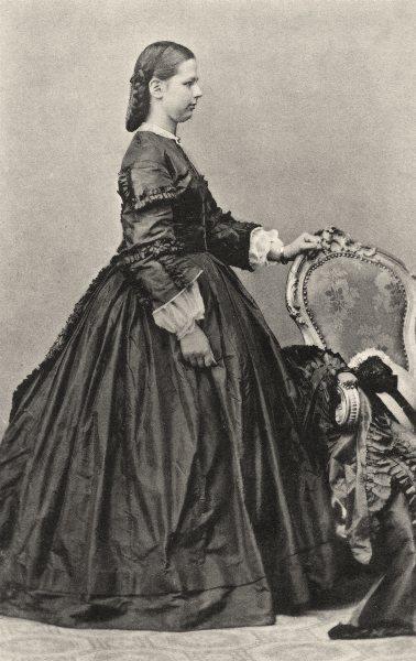 Associate Product PORTRAITS. Portrait of Mlle Cl. Etzel, 1864 1935 old vintage print picture