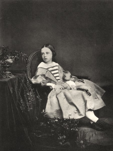 Associate Product PORTRAITS. Portrait of an unknown girl, c.1860 1935 old vintage print picture