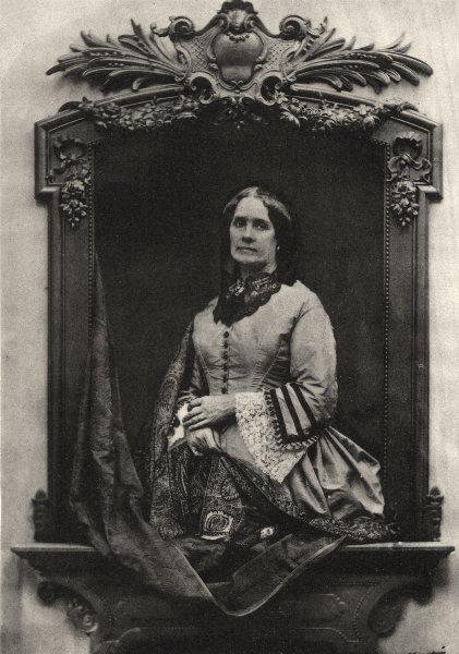 Associate Product PORTRAITS. Portrait of an unknown Lady, c.1864 1935 old vintage print picture