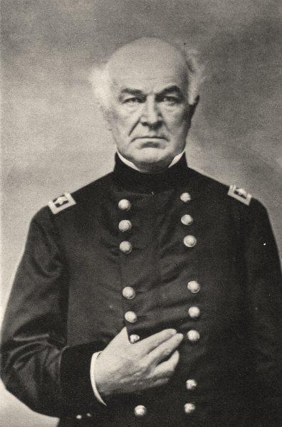 Associate Product MILITARIA. Portrait of Général General Hitchcock, c.1868 1935 old print