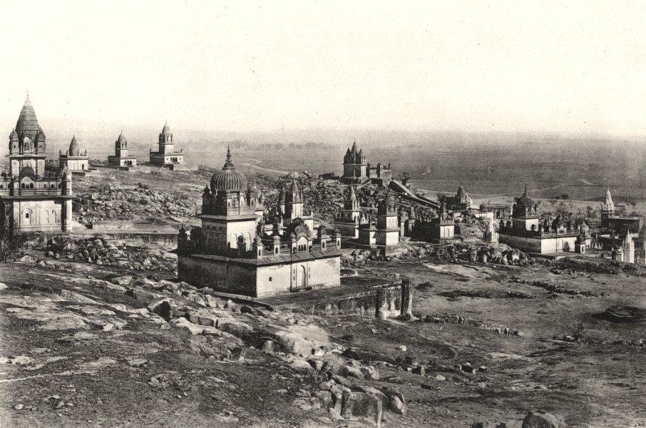 Associate Product INDIA. Temples montagne sacrée Sooma- Wal- Dattia (Inde Centrale) c.1872 1935