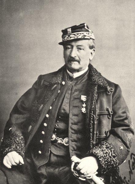Associate Product MILITARIA. Portrait of Général Bellegarie, c.1865 1935 old vintage print