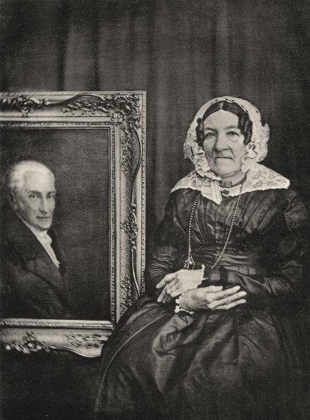 Associate Product PORTRAITS. Portrait of Madame Marschner à côté of son mari, c.1847 1935 print