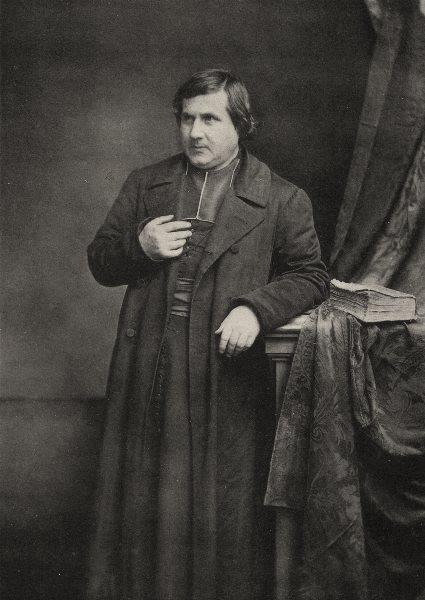 Associate Product PORTRAITS. Portrait of a priest, c.1865 1935 old vintage print picture