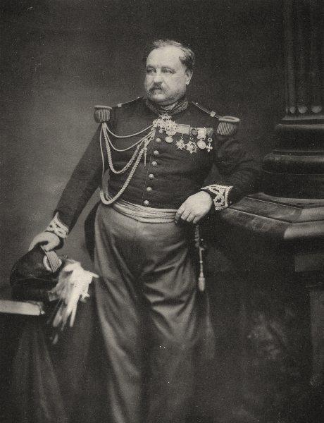 MILITARIA. Portrait of Général Giraflon, c.1865 1935 old vintage print picture