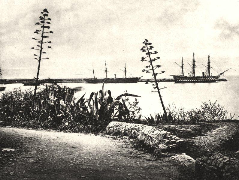 Associate Product GIBRALTAR. Gibraltar, c.1872 1935 old vintage print picture