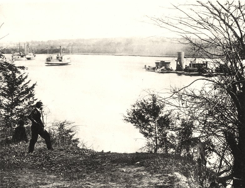 Associate Product AMERICAN US CIVIL WAR. 1860-65;monitors on the James river 1935 old print