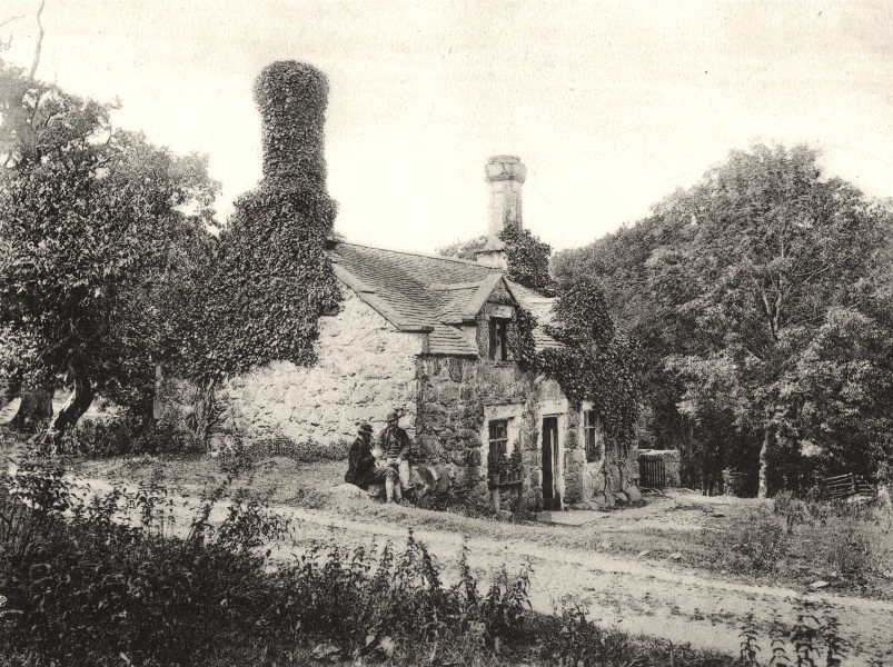 Associate Product HUNTING. The Game Keepers house, Hengurn, c.1872 1935 old vintage print