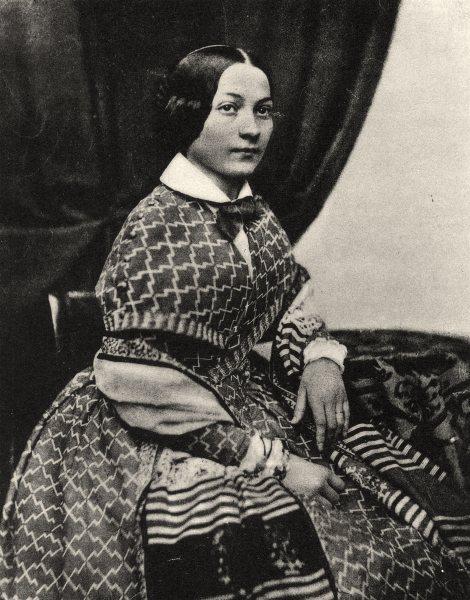 Associate Product PORTRAITS. Portrait of a lady, c.1848 1935 old vintage print picture