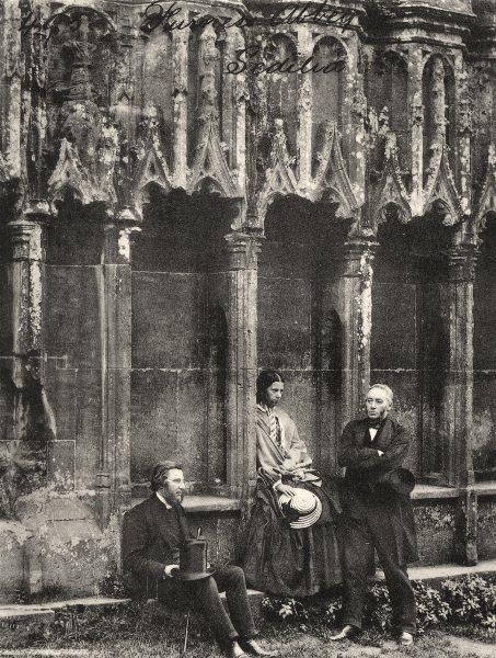 Associate Product CUMBRIA. Furness Abbey, Sedilia, vers1865 1935 old vintage print picture