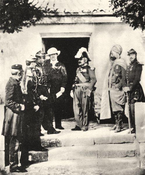Associate Product UKRAINE. Group of officers during the Crimean war 1935 old vintage print
