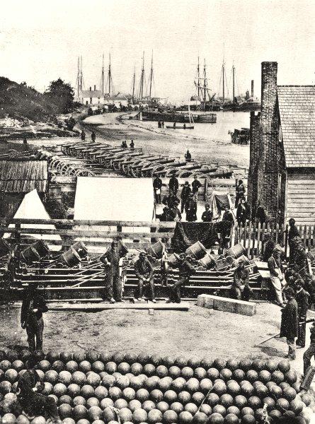 Associate Product US CIVIL WAR. Munitions unloaded, Virginia 1935 old vintage print picture
