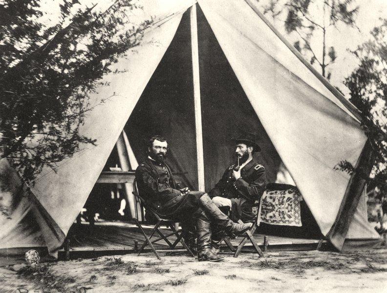 Associate Product US CIVIL WAR. 1860- 1865. Generals August V Kantz & Godfrey Weitzel 1935 print